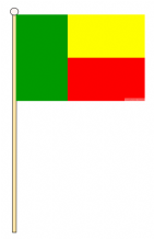 BENIN - HAND WAVING FLAG (MEDIUM)